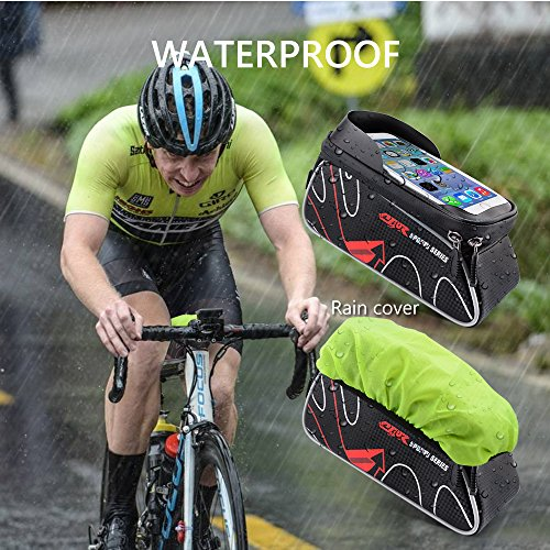 Beusoft Bike Bag Road Mountain Bike Top Tube Front Frame Bag with Waterproof Touch Screen Phone Case for iPhone X 8 7 6s 6 plus 5s 5/Samsung Galaxy s7 s6 note 7 Cellphone Below 6.3 Inch by Beusoft (Image #5)