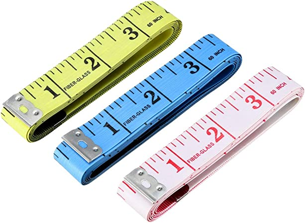 uxcell Cloth Tape Measure for Body 60 Inch 150cm Soft Dual Sided Measuring Tool for Tailor Sewing