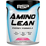 RSP AminoLean - Amino Energy + Fat Burner, Pre Workout, Amino Acids & Weight Loss Powder for Men & Women, Strawberry Kiwi, 30 Servings