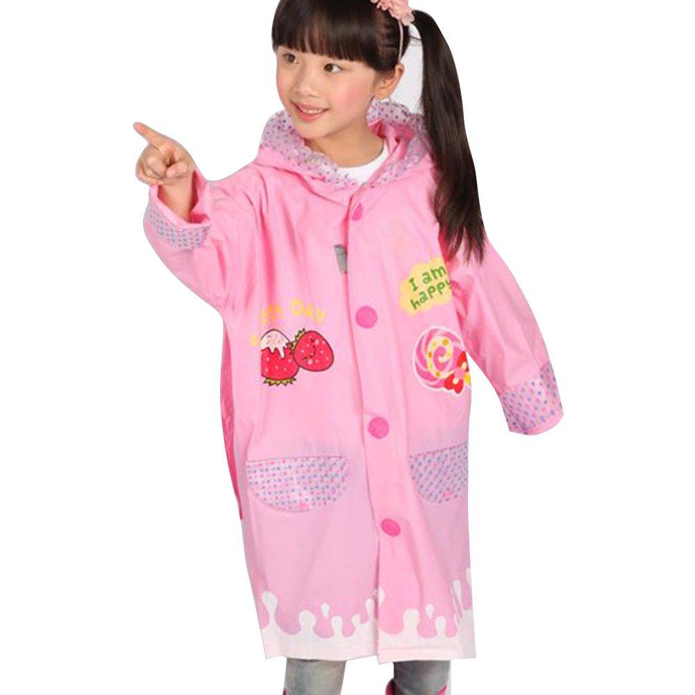 Kinder Kinder Aufblasbare Hat Wasserdicht EVA Poncho Regenmantel mit Schultasche Sitz Blau Auto / 1-2Y hibote Network technology Ltd