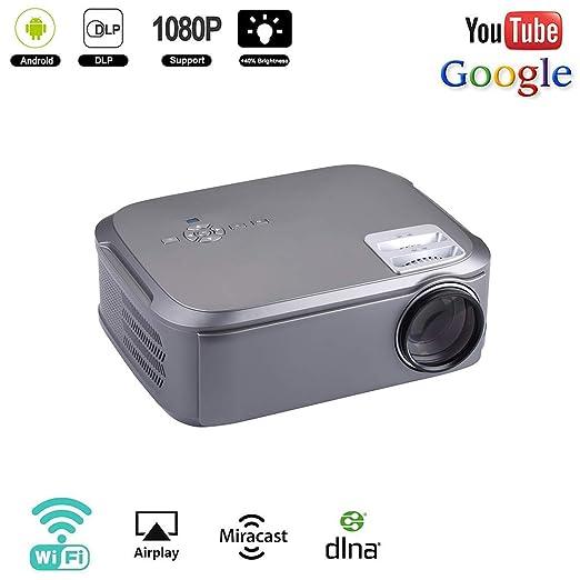 RSGK Proyector LED Doméstico 1080P, Proyector De Video Full HD De ...