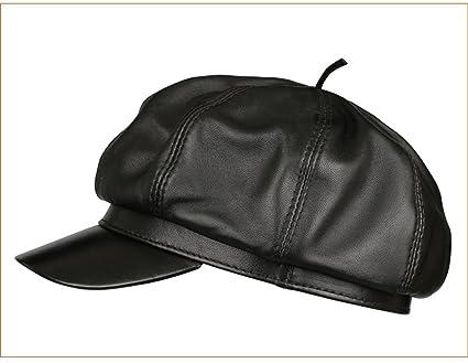 Amazon.com  BTBTAV Women s Leather hat Ladies Fall Winter Berets ... 6eff3509aff
