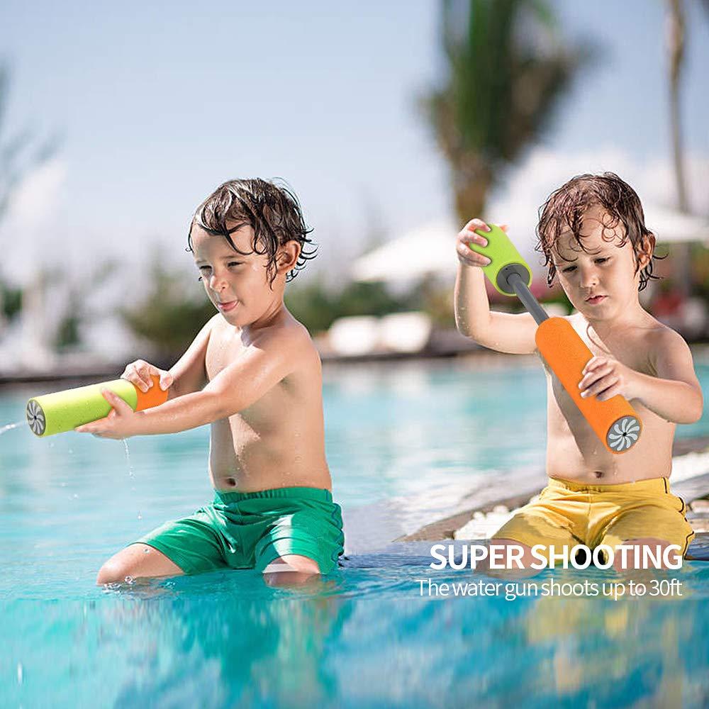 SPECOOL Paquete de 6 Pistolas de Agua de Espuma Soaker Juguetes para ni/ños Verano Piscina Juego Playa Arena Agua Blaster Juguete para ni/ños Ni/ñas Adultos