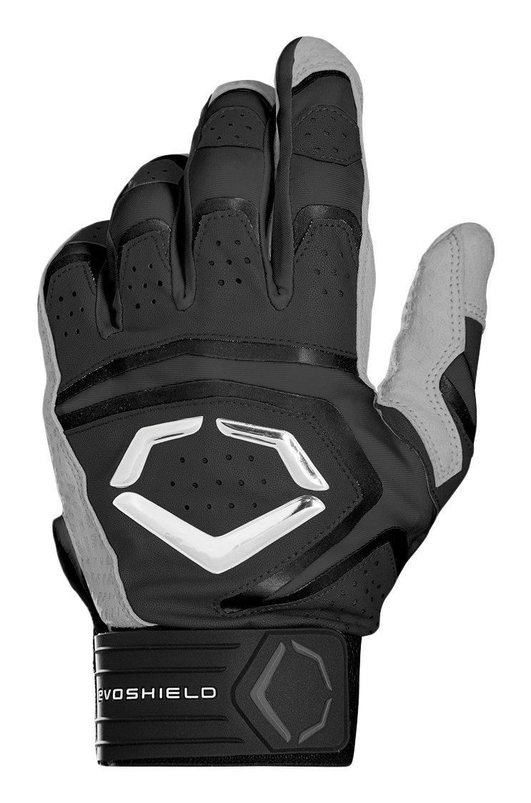 ウィルソンスポーツ用品EvoShield Youth Impakt 950バッティング手袋 B06Y1W1TML Large|ブラック ブラック Large