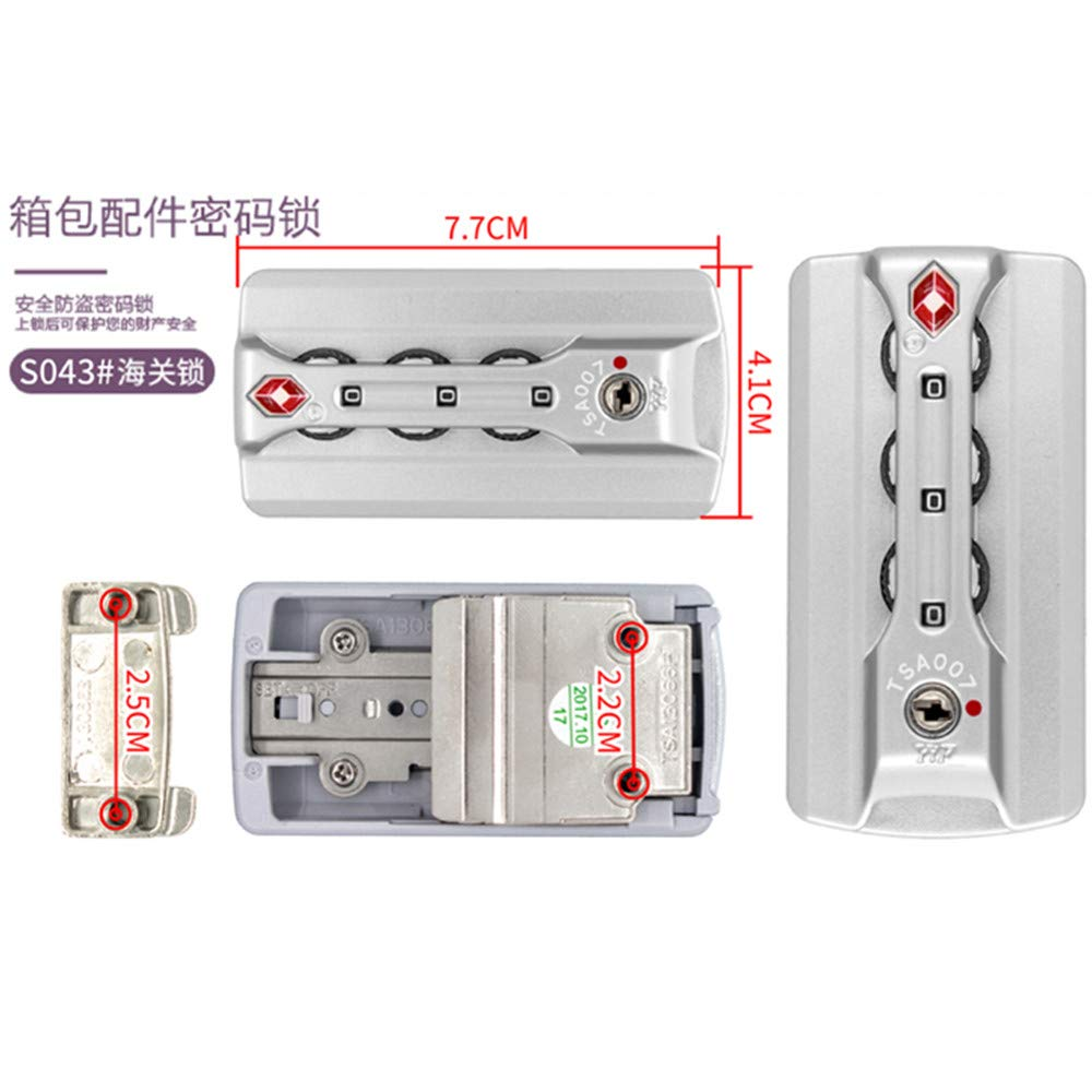 Travel Luggage//suitcases Password lock Replacement Accessories parts S043 YF Set of A pair