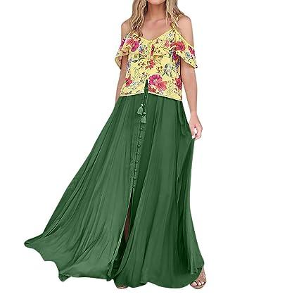 Vestido de verano para mujer, estilo bohemio, con estampado ...