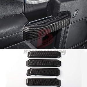 F150 Carbon fiber ABS Car Door Handles Cover Trim,Door Inner Handles Decorative Cover Trim for Ford F150 2015 2016 2017