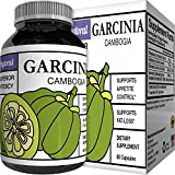 World Class Vitamins Pure Garcinia Cambogia Extract Supplement with 95% HCA Weight Loss Pills Metabolism Booster Natural Carb Blocker and Appetite Suppressant 60 Veggie Capsules For Sale
