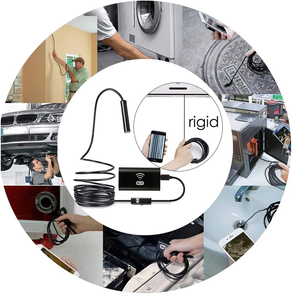 1M//1.5M//2M//3.5M//5M//10M Ip68 Etanche Endoscope pour Android iOS iPhone Smartphone Ipad - Mod/èle: F99 Endoscope Cam/éra dinspection WiFi sans Fil Cam/éra Endoscopique 1200P HD 2.0 MP avec 6 LED