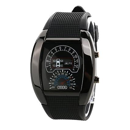 LEORX Reloj LED deportivo - coche Dashboard diseño resistente al agua reloj  (negro) 1b0d6c6aa29d