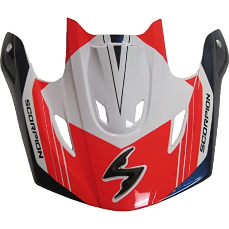 7629bbe1 Image Unavailable. Image not available for. Color: Scorpion Peak Visor Vx-R70  Motorcycle Helmet Accessories - Red/Blue Ascend/One