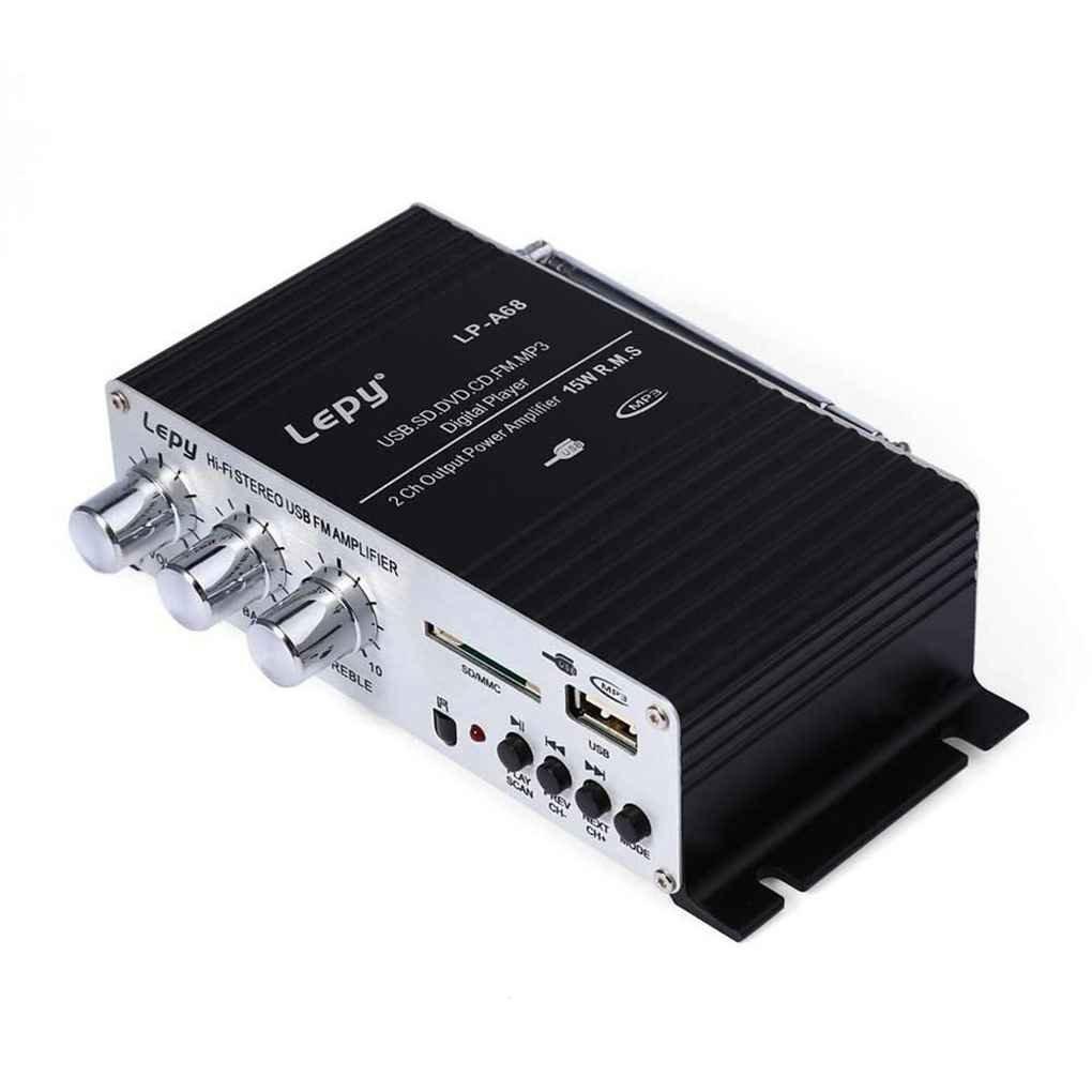 Ben-gi Multi-Funcional de Tarjetas USB MP3 Stereo Enhancer Jugador del hogar Amplificadores FM Potencia del Altavoz de Audio para veh/ículos A68 lepy