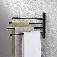 Haceka UN Swing Arm Double Towel Holder Towel Holder Bath Towel Holder White