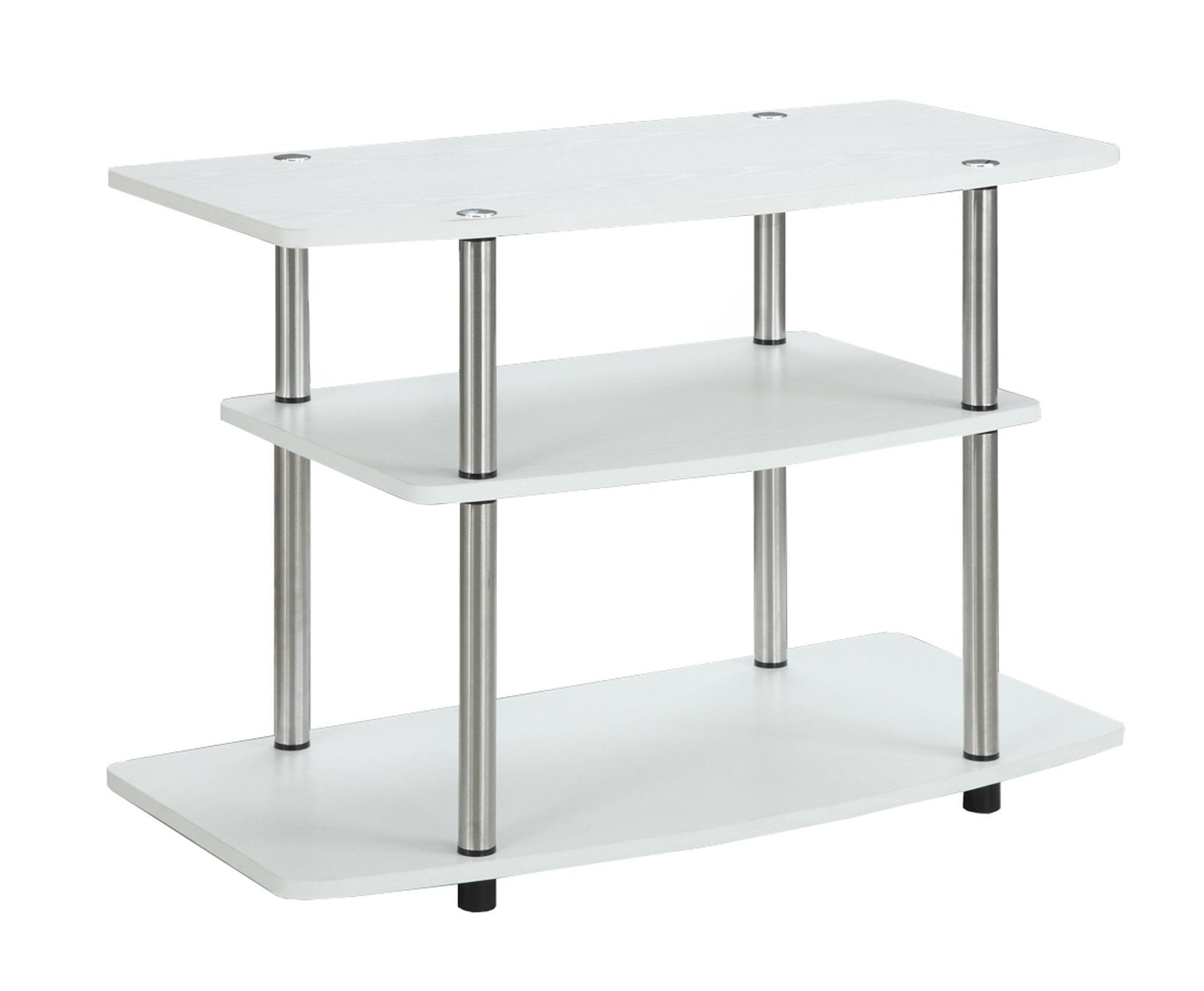Convenience Concepts 3-Tier TV Stand, White by Convenience Concepts