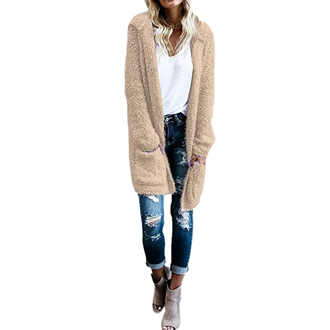 Amazon.com: Toimoth Women Lambswool Hoodie Knit Cardigan ...