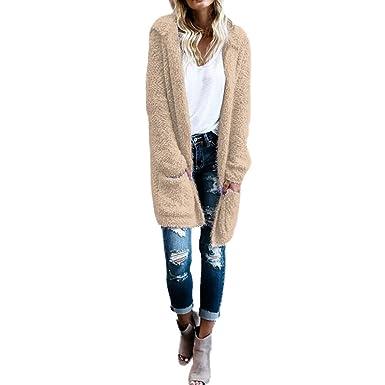 d251e6184e476 Amazon.com: Toimoth Women Lambswool Hoodie Knit Cardigan Sweaters ...