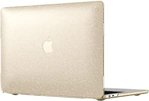 "Speck Products 90207-5636 SmartShell Case for MacBook Pro 13"" with and Without Touch Bar, Clear with Gold Glitter"