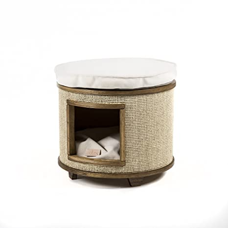 Cotec Tam - Cueva para gatos con postes de raspado - Marco de madera con cojín