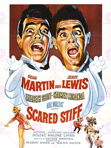MOVIE FILM SCARED STIFF DEAN MARTIN JERRY LEWIS COMEDY 18X24'' POSTER ART PRINT LV10165 (Jerry Lewis Pictures compare prices)