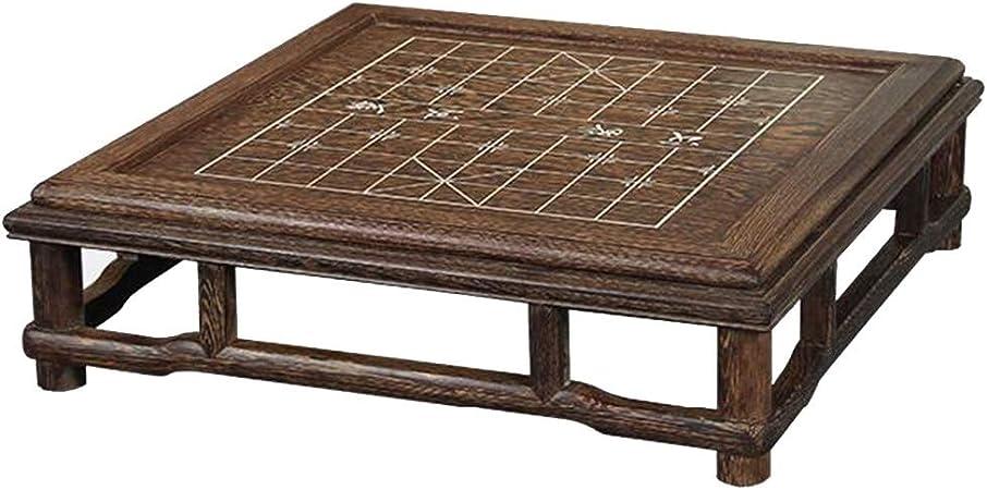 Jardín Mesas Mesa Mesa de Ventana de Madera Maciza Tatami Mesa de Centro Mesa Baja Dos mesas de ajedrez Mesas de Centro (Color : Brown, Size : 60 * 60 * 17cm): Amazon.es: Hogar