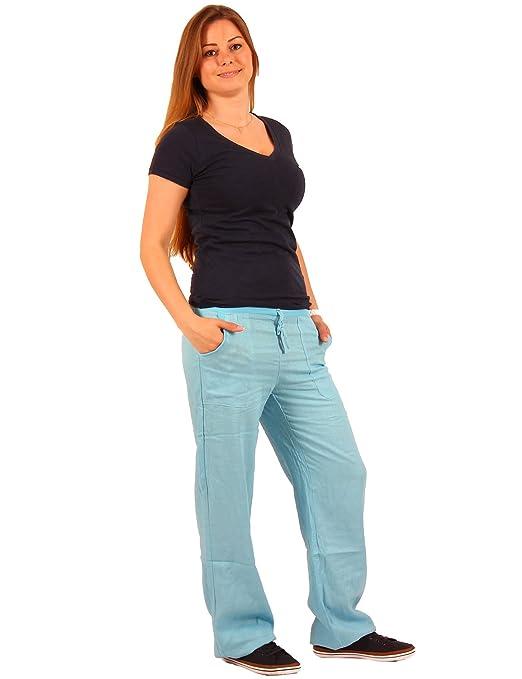 2 opinioni per Pantaloni di lino da donna, elasticizzati, in 7colori, taglie: XS, S, M, L, XL.
