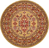 Beautiful Traditional Serapi Cllection Design, Beige 8' FT Round Area Rug - Home Décor Foor Carpet Living Dinning Room and Bedroom Rugs, Warm Up Your Home Décor