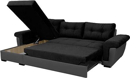Sofafox Corner Sofa Bed With Storage Amazon Co Uk Kitchen Home