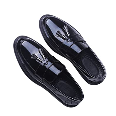 Men's Fashion Slipper Casual Slip On Loafers Leather Shoes Black Size 7-11