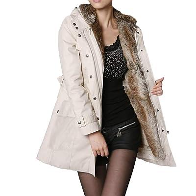 Yvelands Moda para Mujer Abrigo de Forro de Piel de Invierno cálido Grueso Chaqueta Larga con Capucha Parka Abrigo Outwear Blusa Superior: Ropa y accesorios