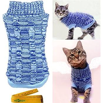 Amazon.com : Casual Elegant Cat Dog Pet Sweater Turtleneck Knitted ...