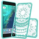 Google Pixel XL 2 Case 2017,AnoKe New Pixel XL 2/ 2 XL Case Clear With Screen Protector,Mandala Cute Women Girls Ultra Thin Slim Fit PC+TPU Phone Hard Cover Cases For Google Pixel XL 2 TM CH MINT