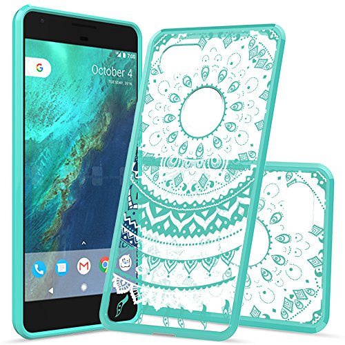 Google Pixel 2 XL Case,Google Pixel 2XL / XL 2 Case,AnoKe Mandala Cute Thin Slim TPU Bumper Protective Hard Cell Phone Cases Cover with Screen Protector for Women Girls Kids Google Pixel 2 XL Mint