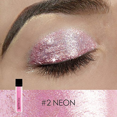 FOCALLURE Glitter Liquid Eyeliner Metallic Shimmer Glitter Eyeshadow Pigment Waterproof Makeup Eye ()