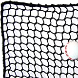 ball containment net - 10' High X 20' Wide Golf Barrier & Containment Netting, #21 Polypro Netting, Serged Cord Edge Bordering, Golf, Baseball, Softball, Hockey, Lacrosse, Soccer, Basketball, Tennis, Multipurpose