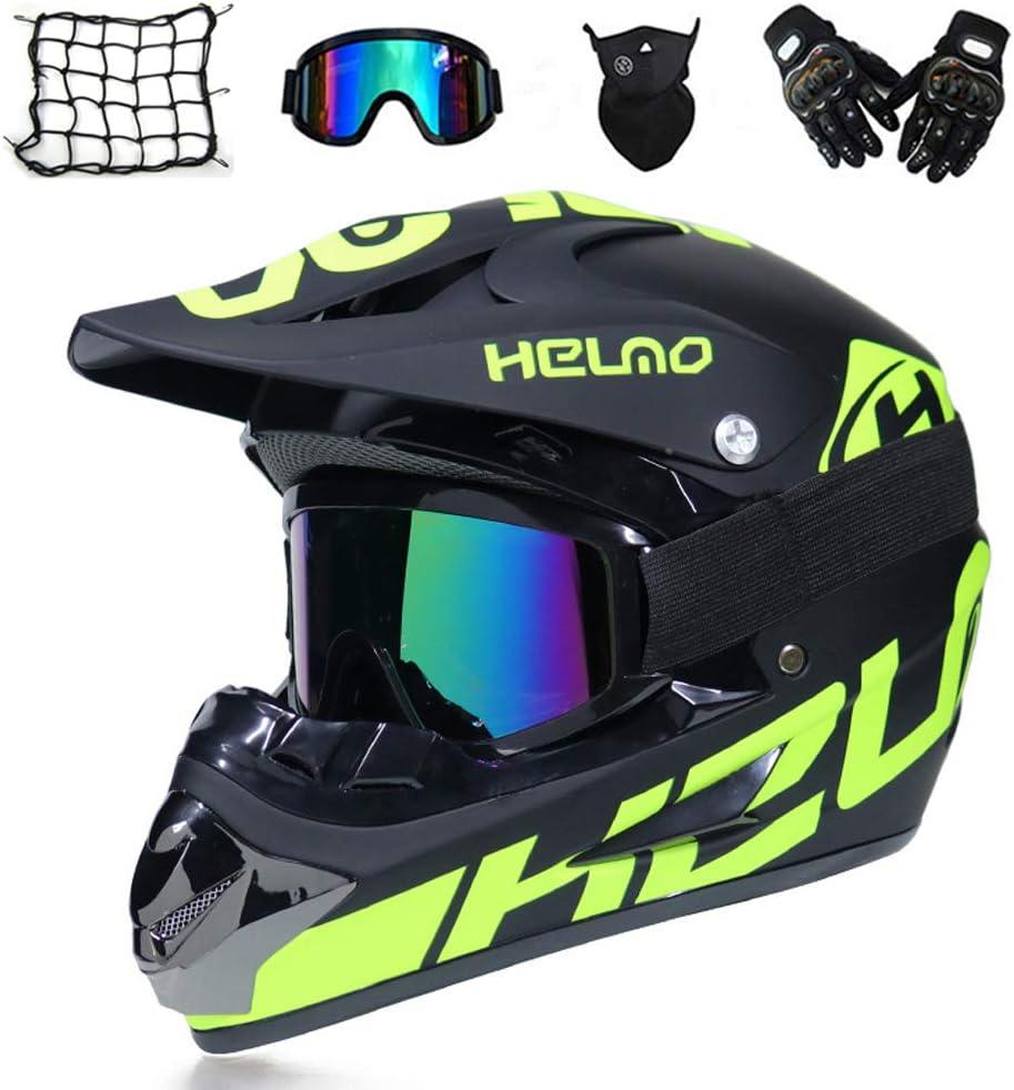 Vomi Motocross Helm Adult Crosshelm Mit Brille Handschuhe Motorrad Netz Erwachsener Off Road Fullface Mtb Helm Mopedhelm Motorradhelm Für Damen Herren Sicherheit Schutz M Auto