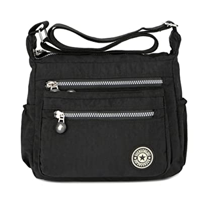 fefde4e58c3c8 Purses and Shoulder Handbags for Women Crossbody Bag Messenger Bags  (Black)(Size