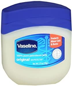 Vaseline 100% Pure Petroleum Jelly Skin Protectant 3.75 oz (Pack of 12)