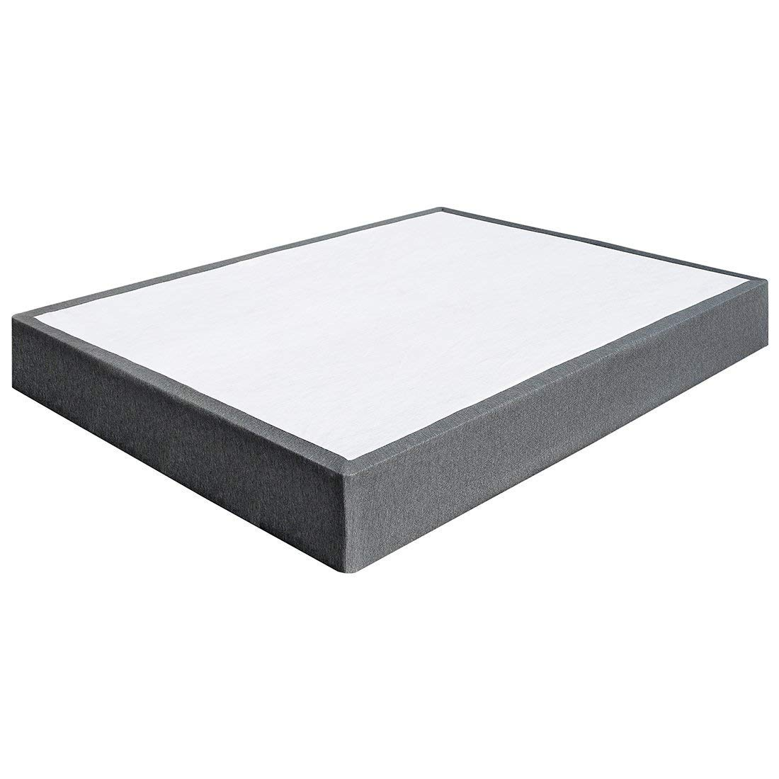 TATAGO 3000lbs Max Weight Capacity 9 Inch Heavy Duty Metal Box Spring Mattress Foundation, Extra-Strong Support & Non-Slip, No Noise, Easy Assembly (Queen)
