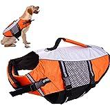 Dog Life Vest Jacket for Swimming kayaking boating Lifesaver Coat for Small Medium Large Xl Dogs Pet Swimsuit Preserver…