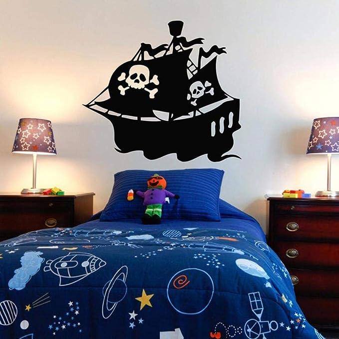 Barco Pirata Etiqueta De La Pared Pegatina Dormitorio Barco ...