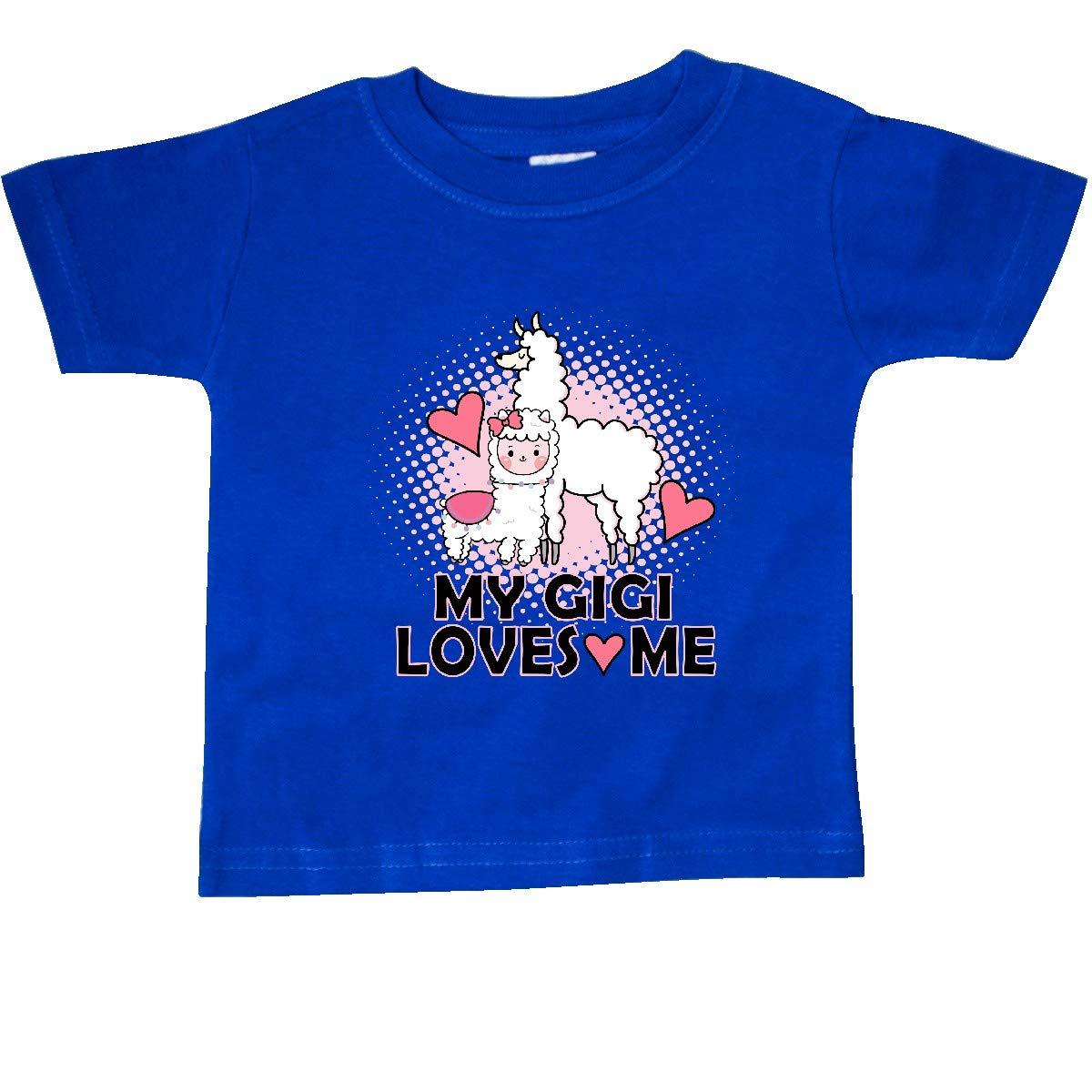 inktastic My Gigi Loves Me Llama Baby T-Shirt