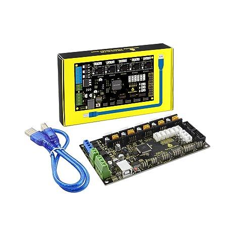 KEYESTUDIO MKS Gen 1.4 - Placa controladora de Impresora 3D para Arduino Mega2560 R3, Color Negro y protección del Medio Ambiente