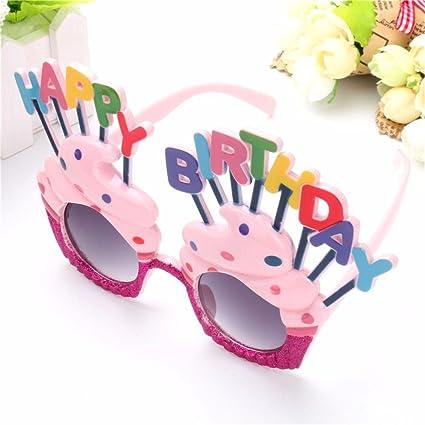 Amazon.com: Divertido helado forma de feliz cumpleaños vasos ...
