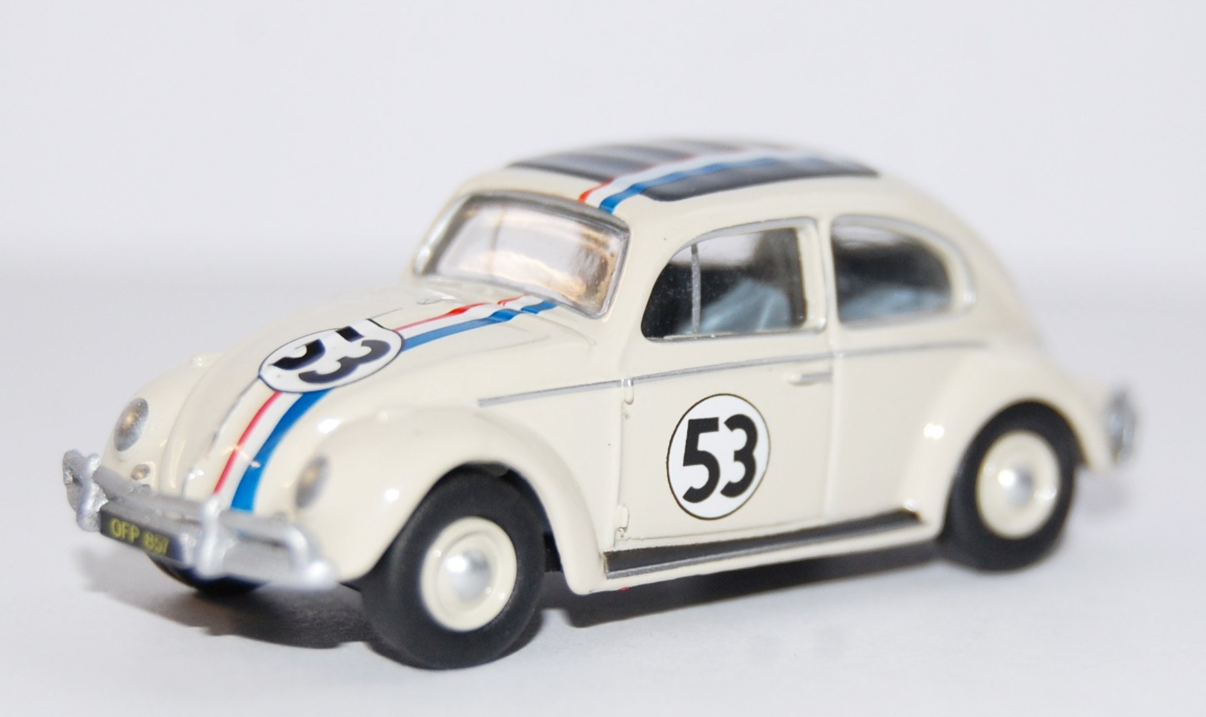 VW beetle Export, Herbie, No.53, 1963, Model Car, Ready-made, Oxford 1:76