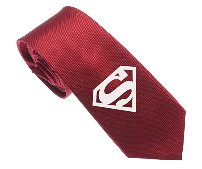 Uyoung Cool Superman Symbol Dark Red Mens Woven 25 Skinny Tie At