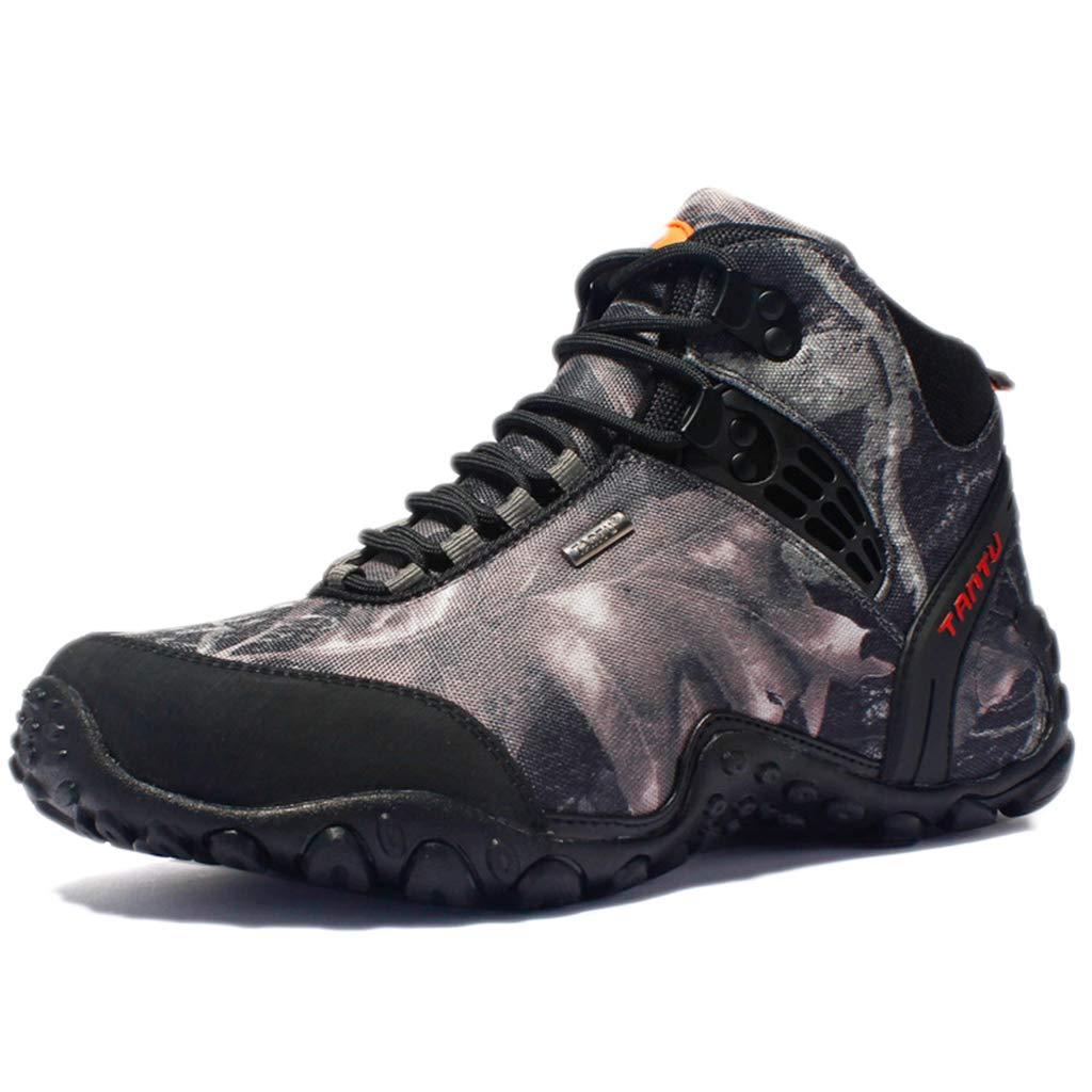 Nihiug Herren Trekkingschuhe Herren leichte Wanderschuhe Leder Trekking Camouflage Schuhe Feld Outdoor Militärschuhe atmungsaktiv  | Elegant und feierlich