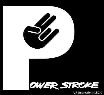 amazon com powerstroke shocker hand decal vinyl sticker cars trucks rh amazon com powerstroke logo download powerstroke logo download