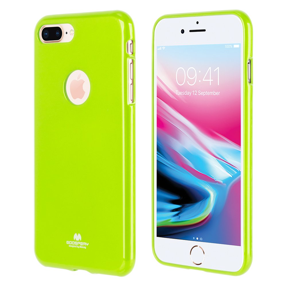 Goospery Marlang Iphone 8 Plus Case Lime Green Pearl Jelly Pink Free Screen Protector Slim Fit Tpu Flexible Protectoin Bumper