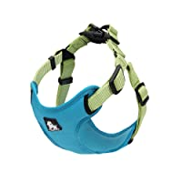 PetsUp Soft Reflective Nylon Front Range Harnesses for Dogs, Medium (Sea Blue)