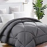 TEKAMON All Season King Comforter Winter Warm Summer Soft Quilted Down Alternative Duvet Insert Corner Tabs, Machine Washable